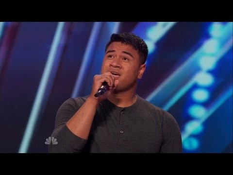 "America's Got Talent S09E04 Paul Ieti Army Soldier's Emotional Performance of ""Stay"" by Rihanna"