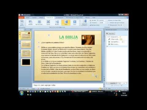 Presentación sencilla de Power Point 2010 en Español [4] Agregar Musica