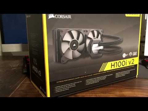 Corsair H100i V2 Review and Temperature Test - YouTube