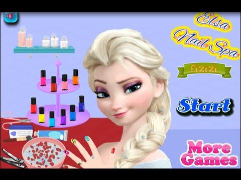 NEW мультик онлайн для девочек—Эльза делаем  маникюр—Игры для детей на русском