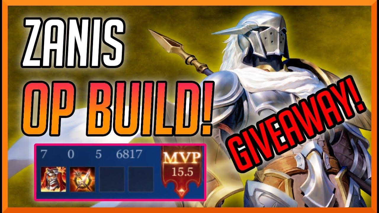 Zanis New Op Build  Voucher Giveaway Zanis Build And Arcana Aov  Ed E C Ed   Ec A A Ed  B Rov
