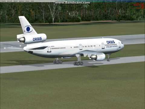 FSX | Diego Garcia landing Orbis Dc10-10