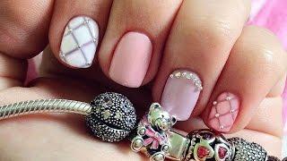 Дизайн ногтей гель-лак shellac - Дизайн стразами и жемчугом (видео уроки дизайна ногтей)