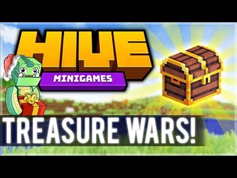 DESTROYING EVERYONE! 1.8 MCPE HIVE SERVER! - Treasure Wars Duos (iOS, Xbox, Switch, PC)