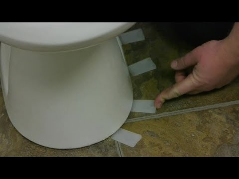 How to Set a Toilet on an Uneven Surface : Toilet Maintenance - YouTube