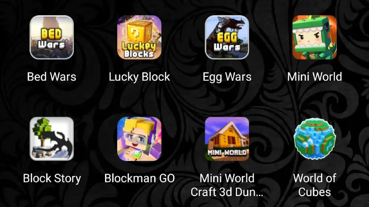 Bed wars, lucky block, egg wars, mini world, block story