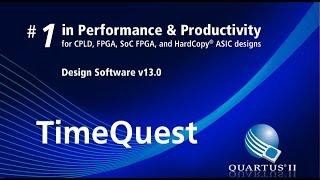 [Quartus II] Set the clock in TimeQuest