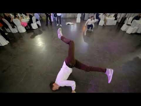 Брэйк-данс шоу Официанты на свадьбе студия танца TALANT