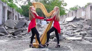 "Смотреть клип METALLICA ""One"" - 2 Girls 1 Harp (Harp Twins) HARP METAL онлайн"