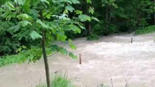 Hochwasser in Au/Illertissen,Bayern  2.6.2013