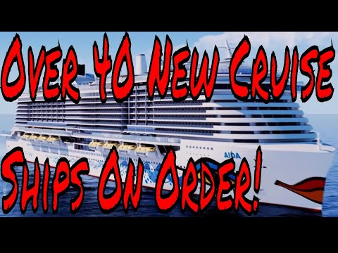New Cruise Ship Orders For Large Cruise Lines exceeding 40 New Ships Plus Travel Insurance Info