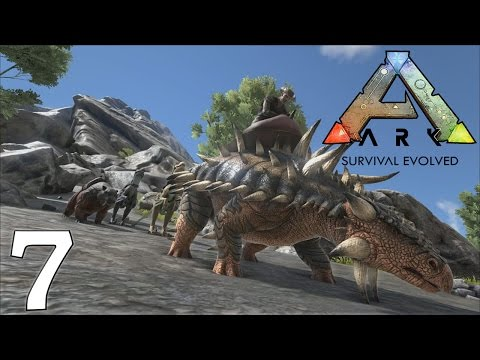 ARK Survival Evolved Gameplay - Ankylosaurus Mining - Let