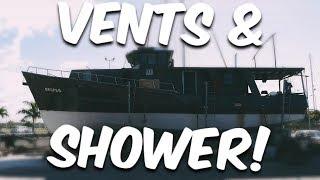 VENTS AND SHOWER - Steel Boat Adventures BRUPEG (Ep. 36)