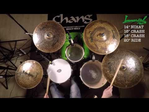 CHANG CYMBALS Immortal Raw for drum set