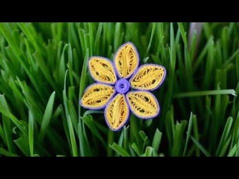 ✿ Quilling - Tutorial 15 - Floare - AidaCrafts