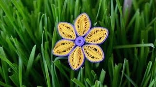 ✿ Quilling - Tutorial 15 - Floare - AidaCrafts