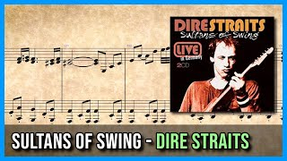 Sultans of Swing - Dire Straits   Piano Sheet Music 🎼 - song lyrics sultans of swing dire straits