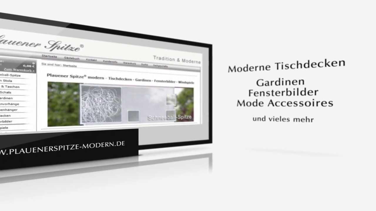 plauener spitze modern plauen lace tischdecken gardinen fensterbilder youtube. Black Bedroom Furniture Sets. Home Design Ideas