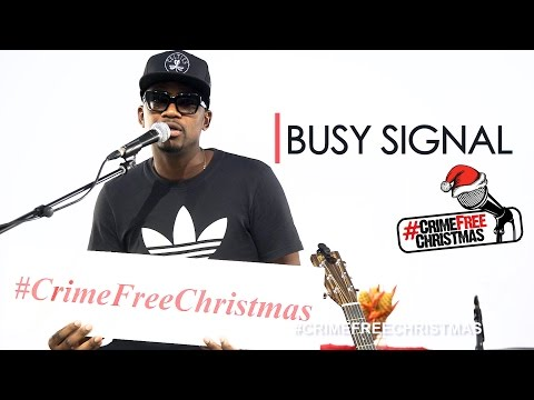 Busy Signal supports the Crime Free Christmas Project 2016 #CrimeFreeChristmas