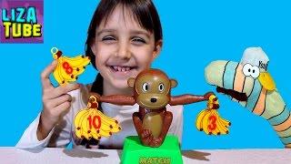 ОБЕЗЬЯНА ВЕСЫ и БАНАНЫ ❀ Математическая игра ❀ ВИДЕО ДЛЯ ДЕТЕЙ ❀ Лиза и Червяк ШОУ