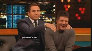 Simon Cowell and David Walliams 💘 in the show Jonathan Ross