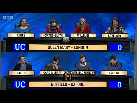 University Challenge S45E13 - Queen Mary, University of London, vs Nuffield College, Oxford