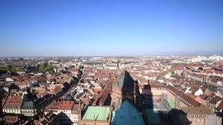 Climbing of top of the Cathedral of Strasbourg
