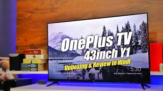 OnePlus TV 43 inch Unboxing & Review with Setup in Hindi Best Smart TV Under 25000  OnePlus TV 43Y1
