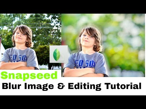 How To Blur Image Background Like DSLR with Snapseed App & Editing Tutorial (Android & IOS)