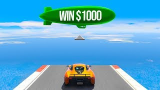 COMPLETE THIS IMPOSSIBLE RACE AND WIN $1000! (GTA 5 Funny Moments)