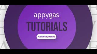 appygas reloaded - Availability Module Tutorial