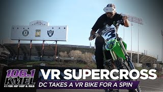 DC Tries Virtual Reality Supercross!