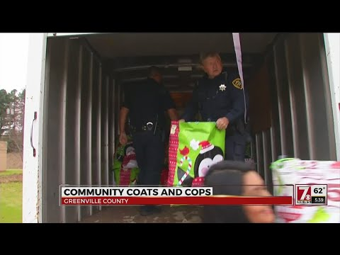 Community Coats and Cops Project in Greenville Co.
