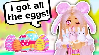 I FOUND EVERY EGG AND GOT LOTS OF FREE ITEMS // Roblox Adopt Me Egg Hunt
