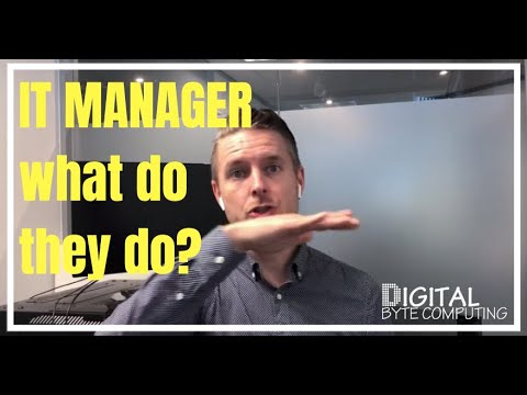 WHAT DOES AN IT MANAGER DO?? Skills and Responsibilities overview