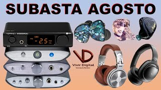Subasta AGOSTO - AQ0, Vesper, EX5, IFI, OneOdio, MU6 Space2