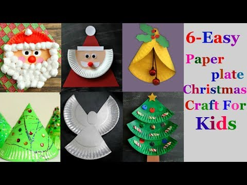 6-Easy paper plate Christmas craft Ideas for kids ( part 2 )