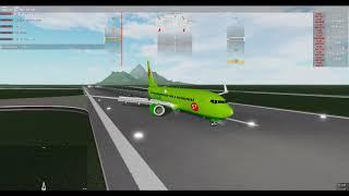 S7 737 EVNING LANDING - FLIGHT LINE ROBLOX