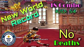 New World Record - No Deaths In King Of Gun Game Mode | Get 18 Combo | KD:54 In 3 Match |Pubg Mobile