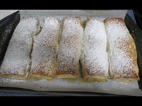 facile-et-rapide-avec-la-pâte-phyllo,-strudel-aux-pommes