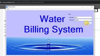 Water Billing System Using VB.NET Demo