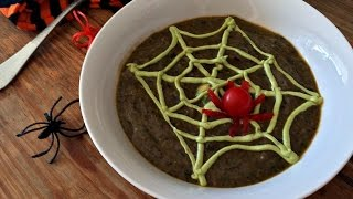 TRICK AND TREAT Black Bean Avocado Soup