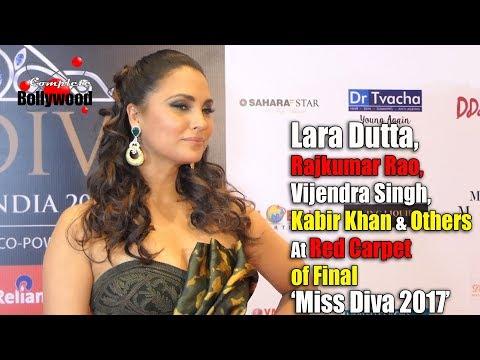Rajkumar Rao, Lara Dutta, Vijendra Singh, Kabir Khan & Others at Red Carpet of Final 'Miss Diva 2017