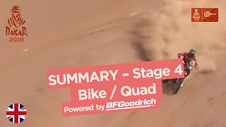 Summary - Bike/Quad - Stage 4 (Arequipa / Moquegua) - Dakar 2019