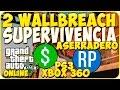 TRUCOS GTA 5 ONLINE - DOS WALLBREACH EN SUPERVIVENCIA ASERRADERO - GTA 5 PS3 Y XBOX 360