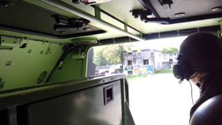 In a swiss Mowag Piranha