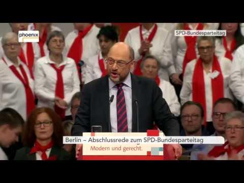 SPD-Bundesparteitag: Schlusswort von Martin Schulz am 09.12.17