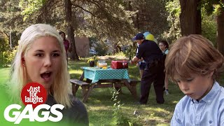 Cop Ruins a Kids Birthday Party!