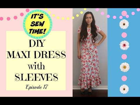f8fa42304a3 THE EASIEST DIY MAXI DRESS WITH SLEEVES