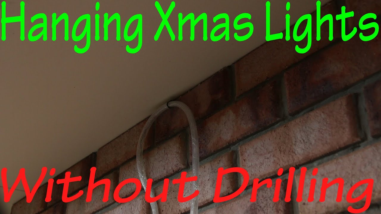 Christmas Lights On Concrete Wall : Hanging Christmas Lights Without Drilling in to Bricks - YouTube